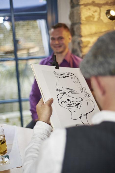 schnellzeichner hochzeit karikaturist
