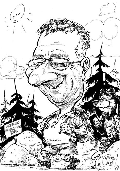 schnellzeichner und karikaturist, karikatur vom foto bestellen