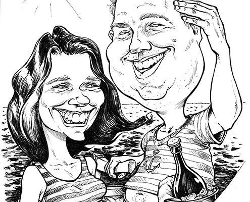 schnellzeichner hochzeit karikatur karikaturist