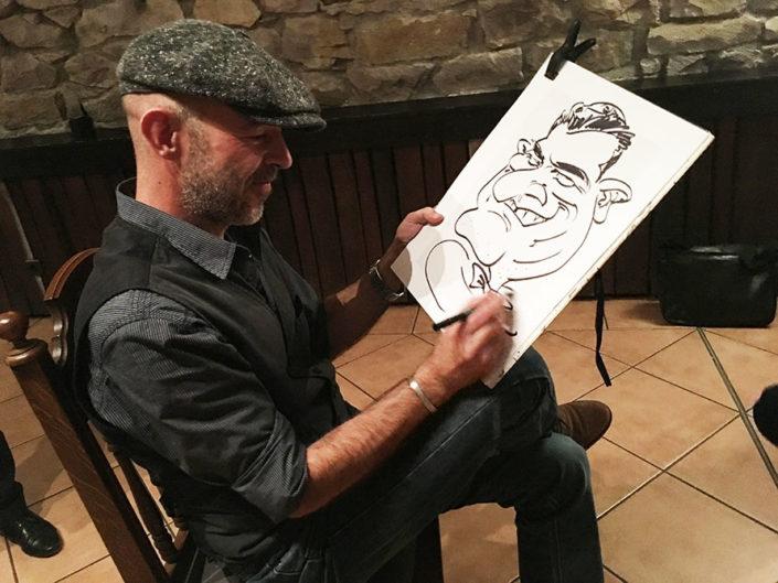 schnellzeichner weihnachtsfeier karkaturist