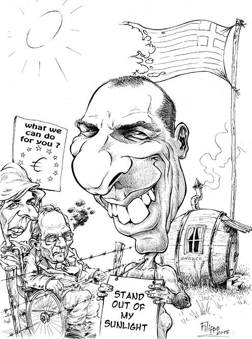 Varoufakis karikatur schnellzeichner