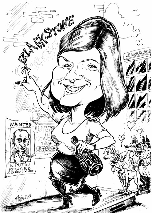 schnellzeichner abschied karikatur karikaturist