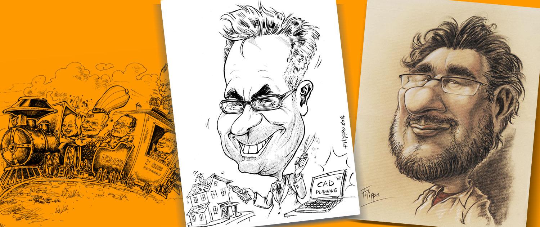 schnellzeichner für messe und event karikaturist