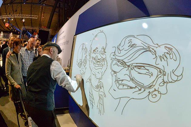 schnellzeichner messe karikaturist