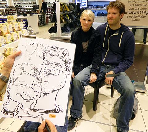 schnellzeichner promotion karikaturist