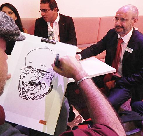 karikaturist messe, schnellzeichner messe frankfurt, nürnberg, karlsruhe, stuttgart