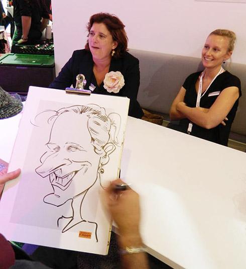 karikaturist messe, frankfurt, nürnberg, karlsruhe, stuttgart