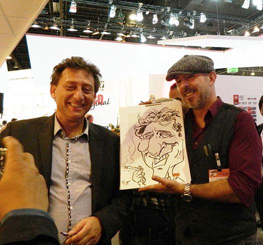 karikaturist messe, frankfurt hochzeit