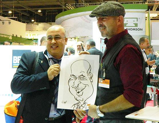 karikaturist messe, schnellzeichner nürnberg, karlsruhe, stuttgart