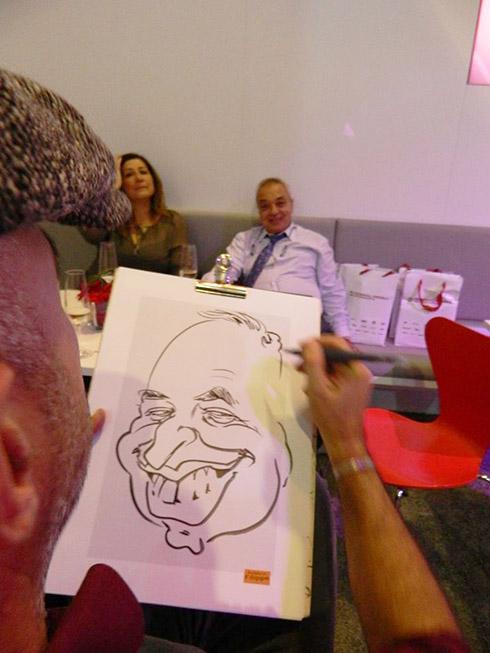 karikaturist messe, frankfurt, nürnberg, köln, hannover