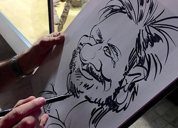 schnellzeichner, karikaturist, messe, event, hochzeit, karikatur vom foto bestellen, zeichnen lassen