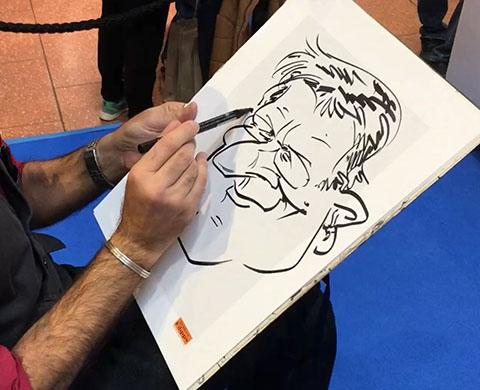 schnellzeichner, karikaturist, messe, event, hochzeit