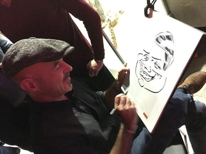 schnellzeichner und karikaturist zeichnet im senckenberg museum 3