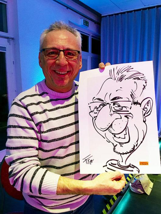 schnellzeichner karikaturist hochzeit, messe, event,