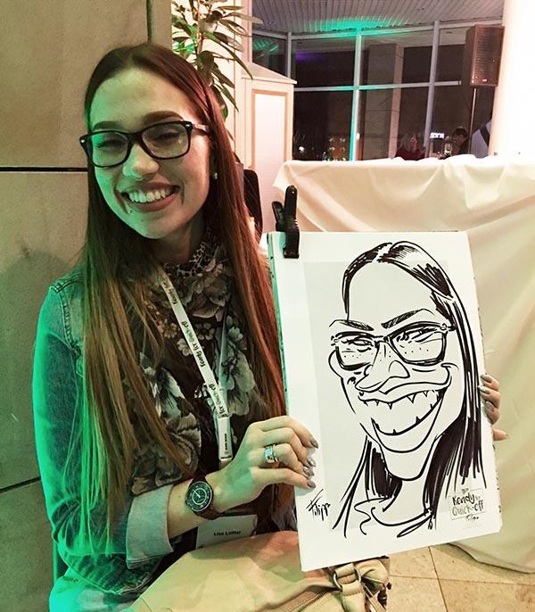 Filippo, schnellzeichner und karikaturist für event, hochzeit, und messe