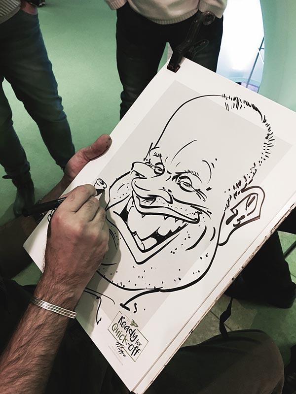 schnellzeichner und karikaturist auf messe, event und hochzeit