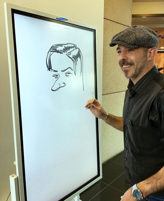 schnellzeichner und karikaturist show auf samsung-event