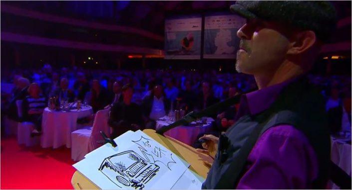 Schnellzeichner bei LEA in der Festhalle Frankfurt die dreizehnte Verleihung des Live Entertainment Award