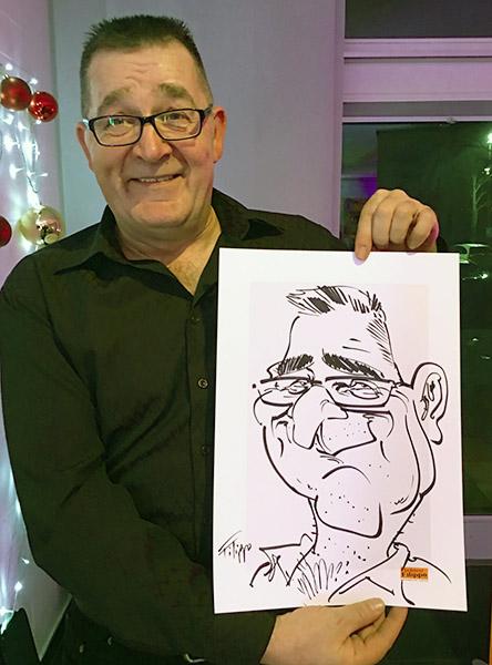 Schnellzeichner und Karikaturist Filippo für Event und Messe, in Frankfurt, Wiesbaden, Mainz, Koblenz und Deutschlandweit.