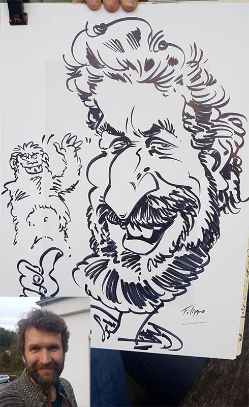 Schnellzeichner Karikaturist für Hochzeit Event und Messe