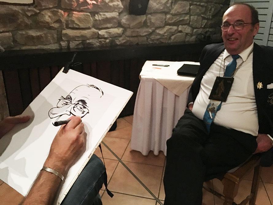 Schnellzeichner und Karikaturist Filippo für Event und Messe, in Mannheim, Darmstadt, Kaiserslautern, Baden-Baden und Deutschlandweit.