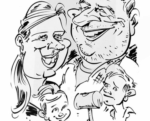 Hochzeit, Bilder zeichnen lassen vom Karikaturist